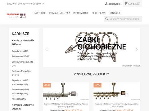 Producent-karniszy.pl sklep z karniszami metalowymi