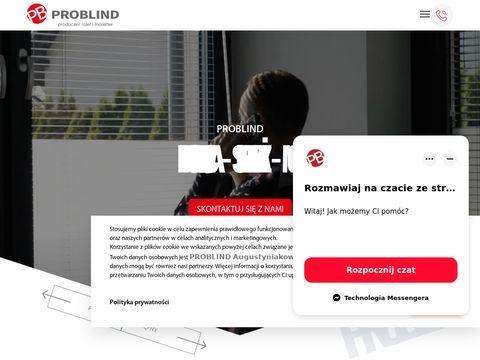 Problind.pl rolety materiałowe na wymiar