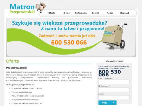 Przeprowadzkimatron.pl - transport Warszawa
