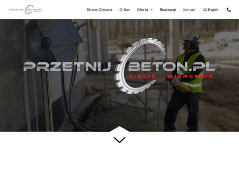 Przetnijbeton.pl cięcie, wiercenie w betonie