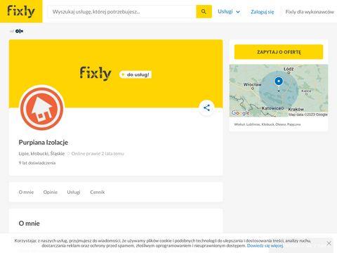 Purpiana - docieplenie poddasza pianką