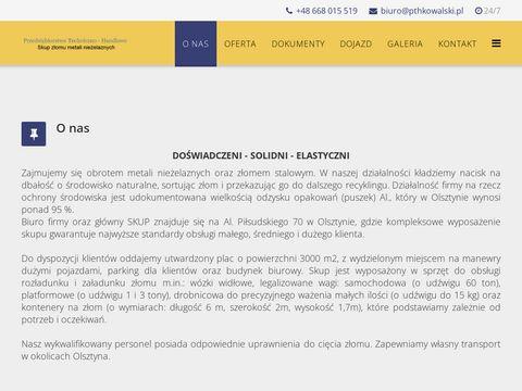 PTH Inż. Piotr Kowalski sprzedaż złomu