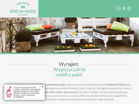Siedzenapalecie.pl - wypożyczalnia mebli z palet
