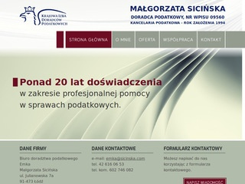 Sicinska.com doradztwo podatkowe