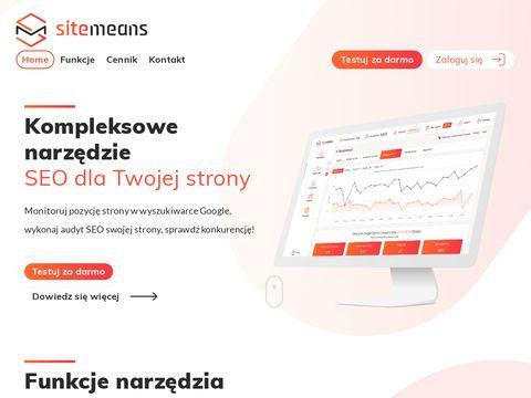 Sitemeans.com monitoring pozycji