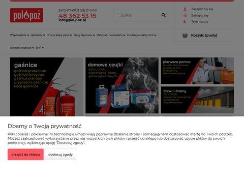 Sklep-ppoz.pl czujki dymu w szkole