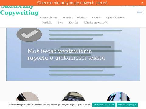 Skutecznycopywriting.pl - teksty specjalistyczne
