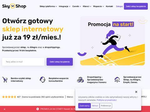 Oprogramowanie do sklepu internetowego sky-shop.pl