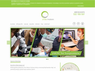Smilemakers.com.pl stomatologia endodocja implanty