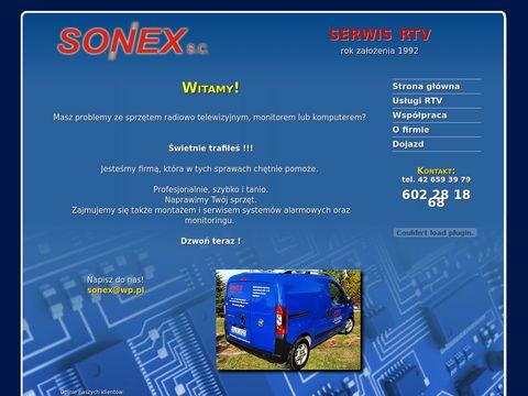 Sonex - naprawa RTV - montaż anten - Łódź
