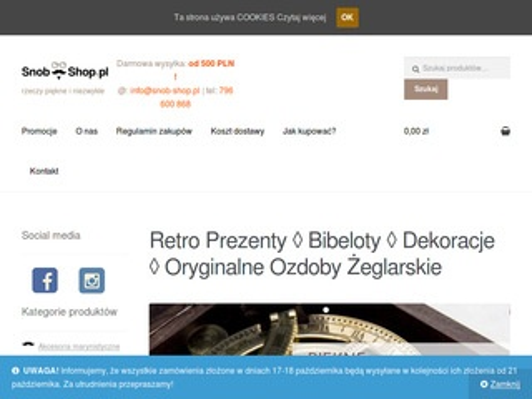 Snob-shop.pl - dekoracje wnętrz