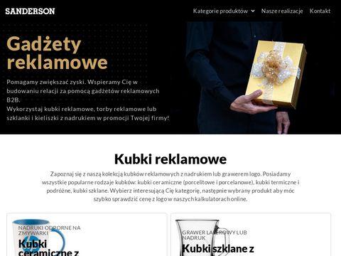 Sanderson.pl kubki reklamowe z nadrukiem