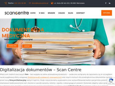 Scancentre.pl archiwizacja dokumentów