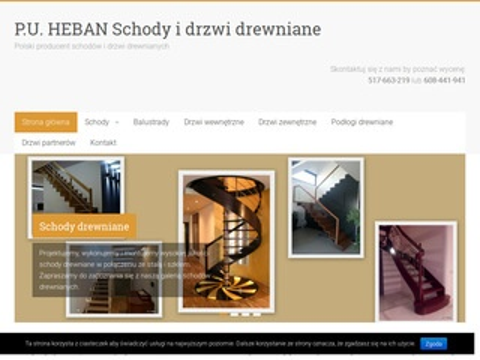 P.U. Heban schody i drzwi drewniane