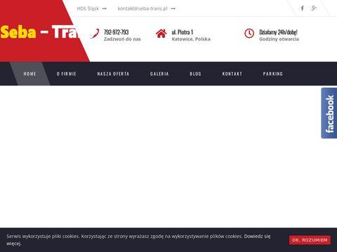 Seba-trans.pl transport HDS Katowice
