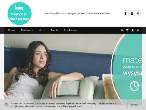 Senvita.pl - łóżka tapicerowane