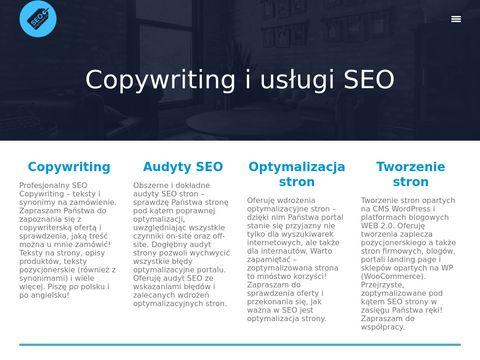 Seo-synonimy.pl copywriter Damian Grądzki