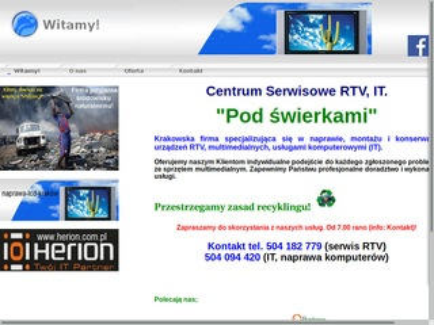 Serv-rtv.pl naprawa tv lcd, led