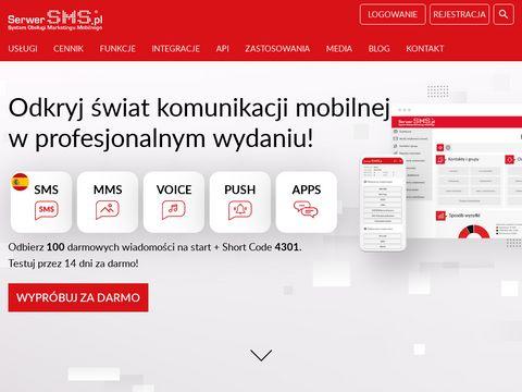 Serwer SMS - masowa wysyłka SMS, powiadomienia SMS