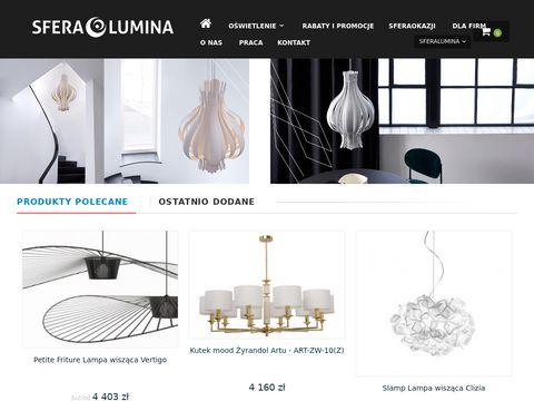 Sferalumina.pl - lampy i artykuły oświetleniowe