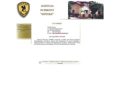 Agencja ochrony SFINKS agencja ochrony