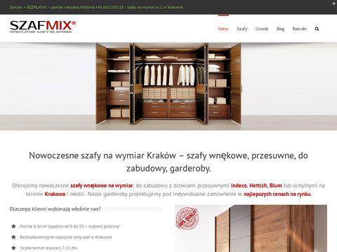 Szafmix szafy wnękowe Kraków