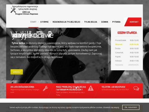 Szmytek.pl tylna belka Peugeot 206