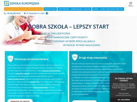 Szkolaeuropejska.pl - Prywatne gimnazja Łódź
