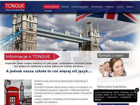 Tongue - Szkoła języka angielskiego w Krakowie