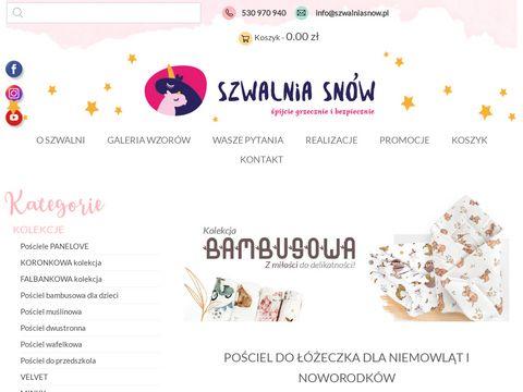 Szwalniasnow.pl - pościel dla dziecka