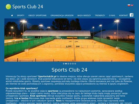 Sportsclub24.pl trenuj z najlepszymi tenis ziemny