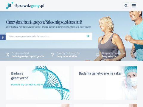 Sprawdzgeny.pl badania dna