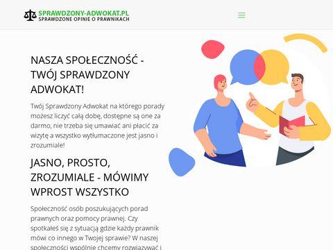 Sprawdzony-adwokat.pl Warszawa rozwód