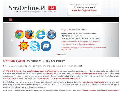Spyonline.pl Spyphone S-Agent podsłuch na telefonie