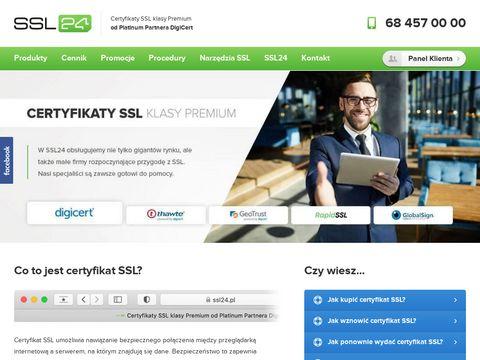 Ssl24.pl certyfikat thawte