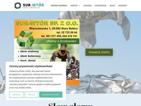 Sur-Wtór Sp. z o.o. skup złomu ożarów mazowiecki