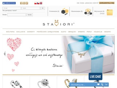 Staviori.pl zaręczynowy pierścionek