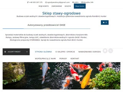 Stawy-ogrodowe.pl budowa oczka wodnego OASE