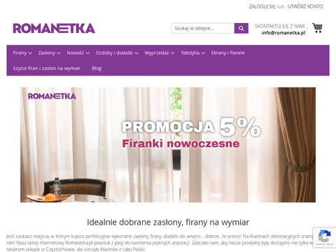 Romanetka.pl firany haftowane i kuchenne