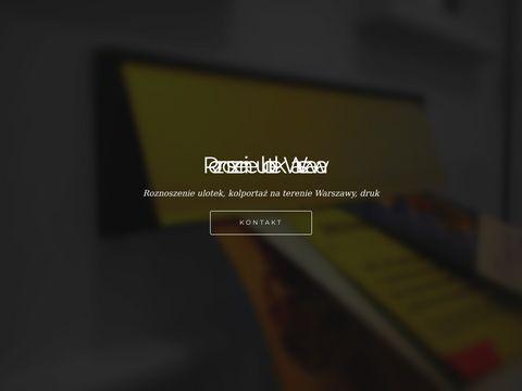 Roznoszenieulotekwarszawa.com kolportaż
