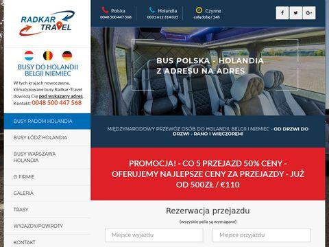 Radkar-travel.pl przewóz osób Holandia Radom