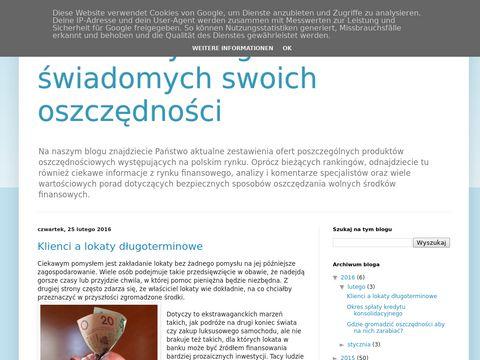 Rankinglokatbankowych.blogspot.com-blog finansowy