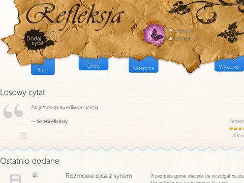 Refleksja.info - cytaty, myśli, refleksje