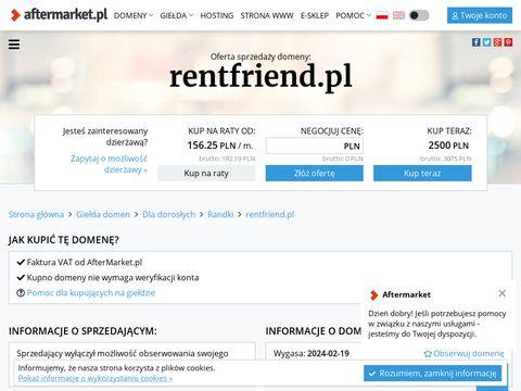Rentfriend.pl - zarządzanie wynajmem nieruchomości