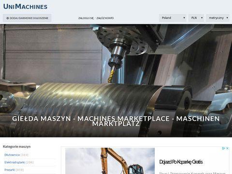 Unimachines.pl - giełda maszyn CNC