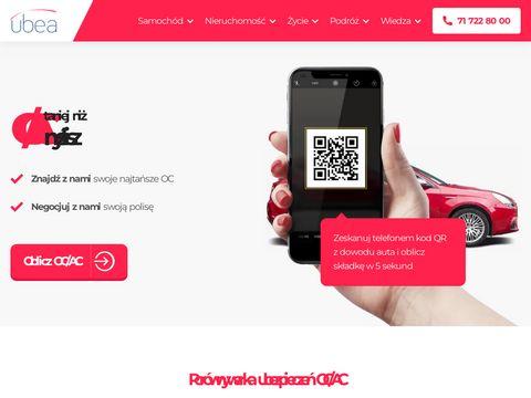 Ubea.pl – porównywarka ubezpieczeń
