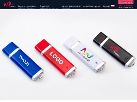 Usbprezent.pl producent pendrivów z nadrukiem logo