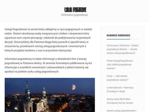 Uslugipogrzebowe.eu.org - informator