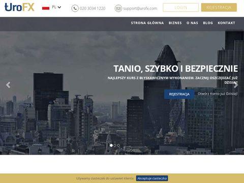 Urofx.com wysyłanie pieniędzy z Wielkiej Brytanii