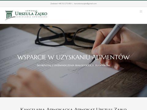 Urszulazajko.pl kancelaria adwokacka Białystok